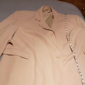 2 Piece Creme Pant Suit